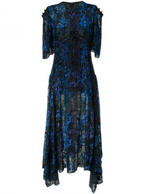 Асимметричное платье Prabal Gurung. Цвет: чёрный
