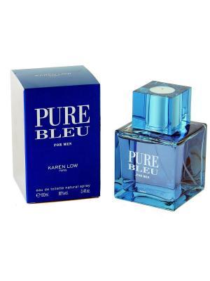 Туалетная вода Pure Bleu  men GEPARLYS. Цвет: голубой