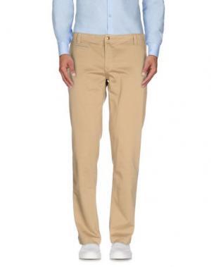 Повседневные брюки MONKEE GENES. Цвет: песочный