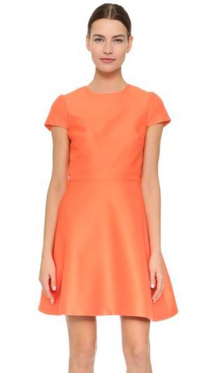 Коктейльное платье с накидкой сзади Monique Lhuillier. Цвет: оранжевый
