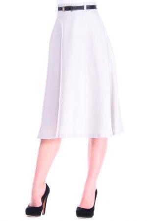 Юбка MAURINI. Цвет: бело-серый