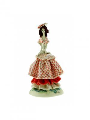 Статуэтка Дама Zampiva. Цвет: красный, белый, коричневый
