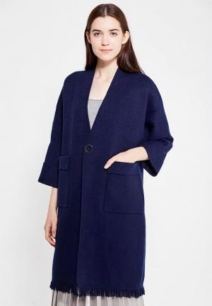 Пальто Fresh Cotton. Цвет: синий