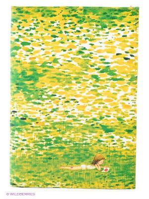 Обложка для автодокументов Девочка в травке Mitya Veselkov. Цвет: зеленый, желтый