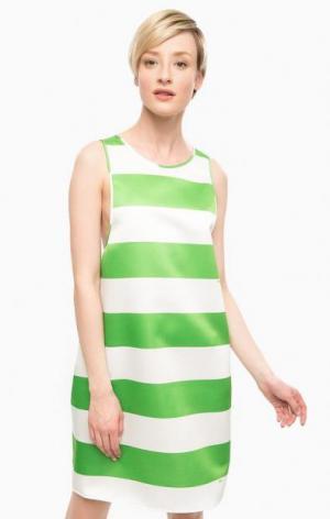 Платье в полоску свободного кроя POIS. Цвет: полоска