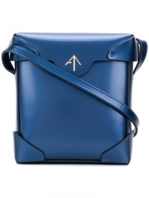 Сумка через плечо Pristine Manu Atelier. Цвет: синий