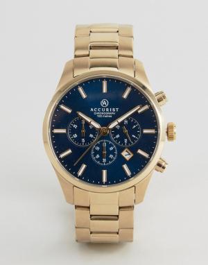 Accurist Золотистые часы с хронографом. Цвет: золотой