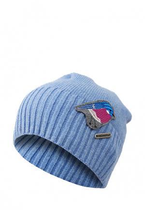 Шапка Macushka. Цвет: голубой
