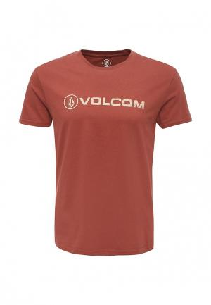 Футболка Volcom. Цвет: коричневый