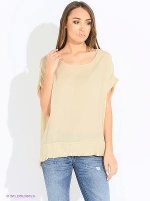 Блуза Rosa&Friends. Цвет: темно-бежевый