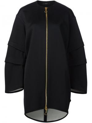 Пальто на молнии свободного кроя Ellery. Цвет: чёрный