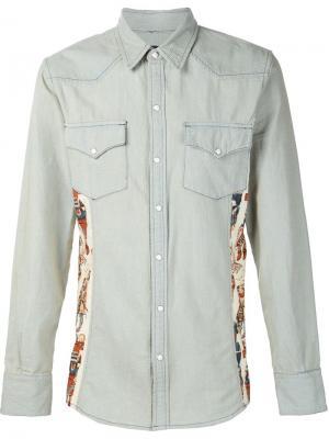 Рубашка в стиле вестерн United Rivers. Цвет: синий