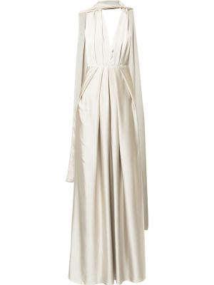 Вечернее платье Columbia Bianca Spender. Цвет: металлический