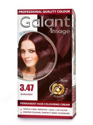 Cтойкая крем-краска для волос GALANT 3.47 бургундский, 115 мл., (Болгария) Image. Цвет: зеленый