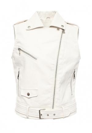 Жилет кожаный B.Style. Цвет: белый