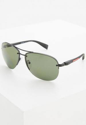 Очки солнцезащитные Prada Linea Rossa. Цвет: зеленый