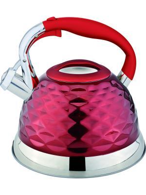 Чайник со свистком 2,7 литра. RAINSTAHL. Цвет: красный
