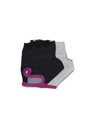 Перчатки спортивные Eleon. Цвет: черный, светло-бежевый, фиолетовый