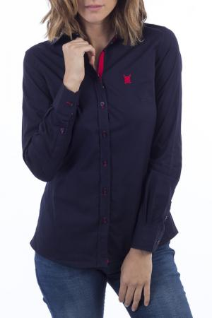Рубашка POLO CLUB С.H.A.. Цвет: navy and red