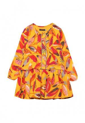 Платье Catimini. Цвет: разноцветный