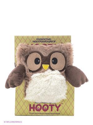 Совенок-грелка Hooty Warmies. Цвет: бежевый