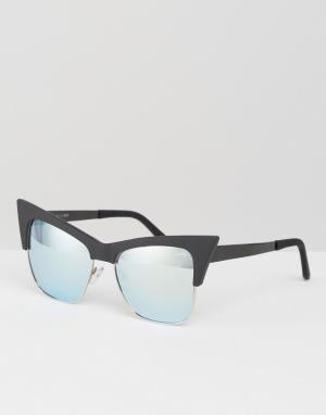 Quay Australia Солнцезащитные очки кошачий глаз x Desi T.Y.S.M. Цвет: черный