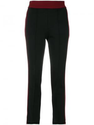 Спортивные штаны с лампасами Helmut Lang. Цвет: чёрный