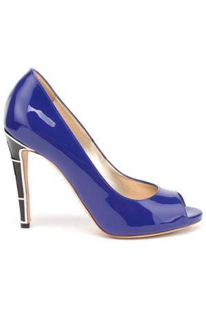 Туфли Twice. Цвет: синий