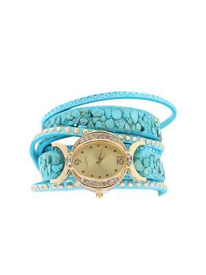 Браслет-часы Olere. Цвет: голубой, золотистый