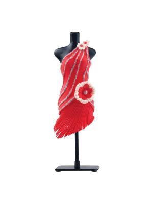 Набор для творчества с пластилином Fashion Dough и манекеном Красный Toy Target. Цвет: красный