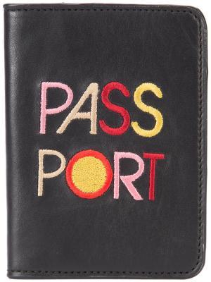 Обложка для паспорта Lizzie Fortunato Jewels. Цвет: чёрный