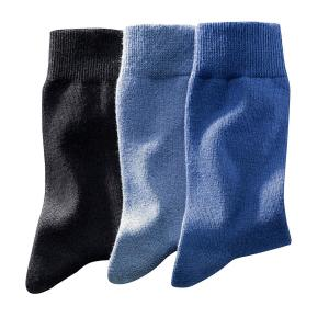 3 пары носков La Redoute Collections. Цвет: черный + каштан + бежевый,черный + серый,черный + синий + голубой,черный