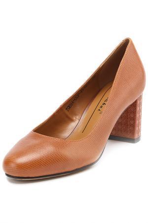 Туфли Carlabei. Цвет: рыжий