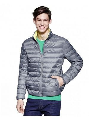 Куртка United Colors of Benetton. Цвет: серый, желтый