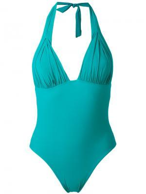 Слитный купальник Carine Gilson. Цвет: зелёный