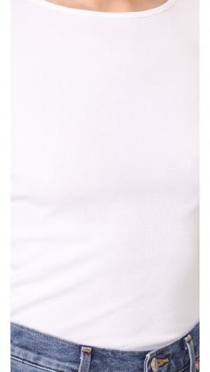 Short Sleeve Boat Neck with V Back Three Dots