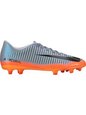 Бутсы MERCURIAL VORTEX III CR7 FG Nike. Цвет: оранжевый, серый
