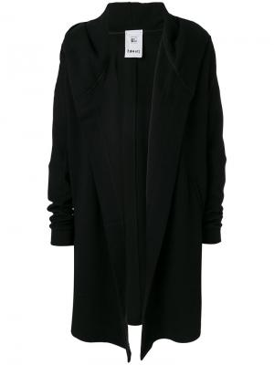 Пальто с контрастным капюшоном Lost & Found Rooms. Цвет: чёрный