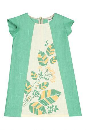 Платье ЁМАЁ. Цвет: травяной