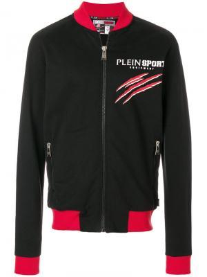 Logo print bomber jacket Plein Sport. Цвет: чёрный