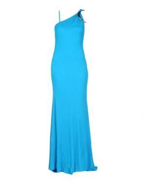 Длинное платье ROBERTO CAVALLI. Цвет: лазурный