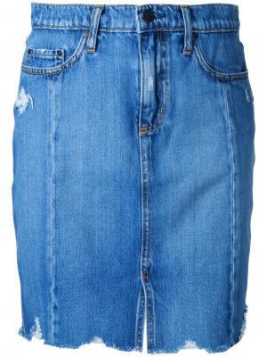 Tilda Skirt Roughed Up Nobody Denim. Цвет: синий