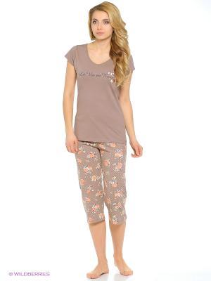 Комплект одежды Vienetta Secret. Цвет: коричневый