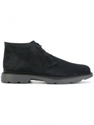 Lace-up boots Hogan. Цвет: синий