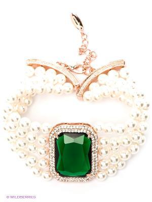Браслет Bijoux Land. Цвет: белый, зеленый