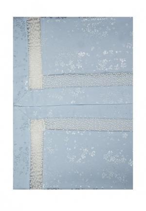 Комплект постельного белья Евро Asabella. Цвет: голубой
