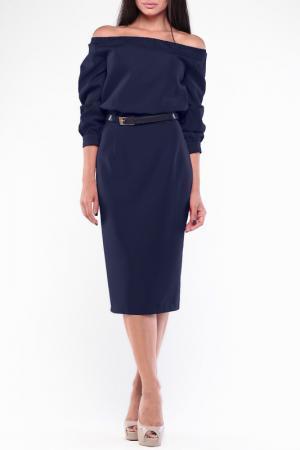Платье Dioni. Цвет: темно-синий