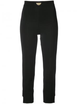 Укороченные строгие брюки Cushnie Et Ochs. Цвет: чёрный