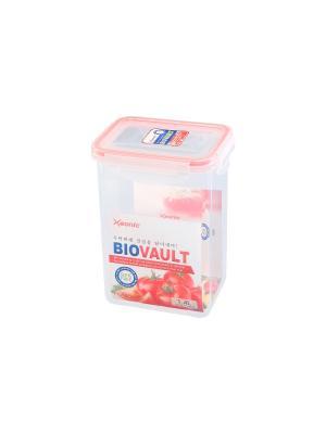 Контейнер герметичный 1.4 л XEONIC CO LTD. Цвет: прозрачный, красный