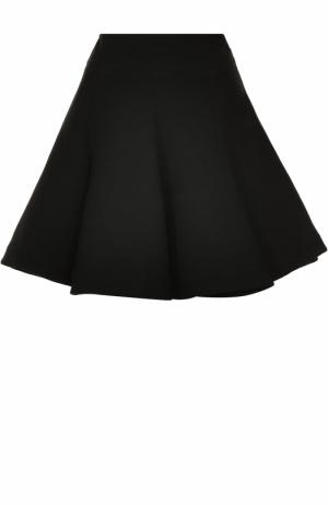 Шерстяная пышная мини-юбка Alaia. Цвет: черный